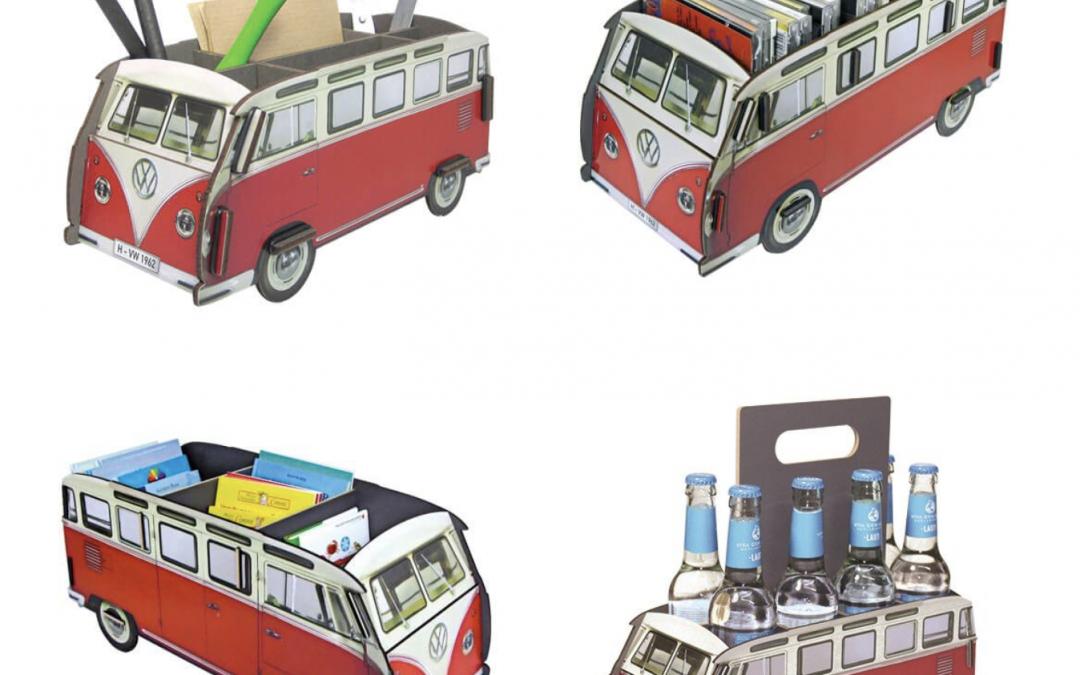 """Kultobjekt """"VW T1 Bulli"""" jetzt auch als Stiftebox, CD-Bus und Bücherbus"""